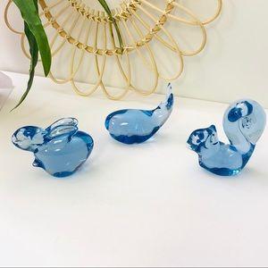 Vintage   Blown Art Glass Paper Wait Figurines